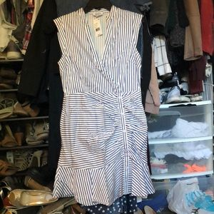 Bloomingdale's Lucy Paris white/blue striped Dress